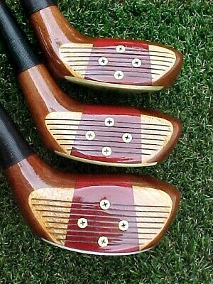 AU260.57 • Buy Left Hand LH PERSIMMON Sounder USA Golf Clubs Woods Set Driver 3 5 W New Grips