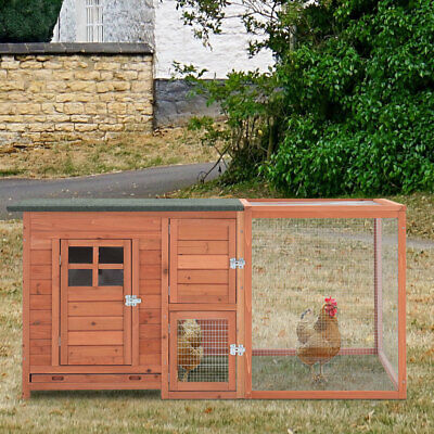 £159.95 • Buy Wooden Chicken Coop Backyard Hen Cage Poultry Home Nest Box Coup Rabbit Hutch