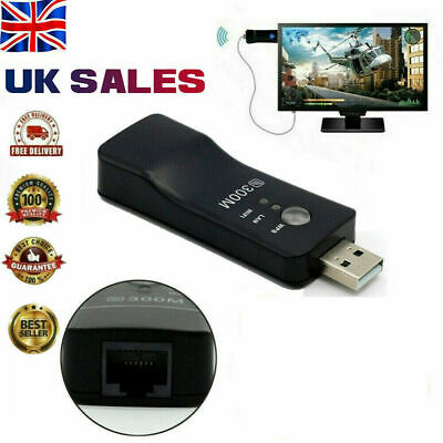 £7.95 • Buy Wireless LAN Adapter WiFi Dongle Network RJ45 Ethernet Cable For Smart TV Player