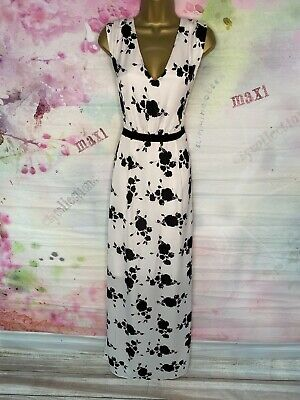 £7.77 • Buy Phase Eight Full Length White/black Maxi Gown Dress Size 14