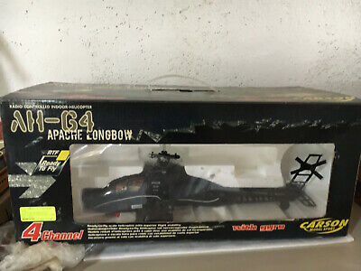 £38.64 • Buy AH-64 Apache Longbow With Gyro -RC Indoor Helicopter - Carson Model Sport