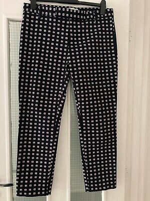 £3.80 • Buy New! GAP Ladies Womens Slim Cropped Stretch Print Smart Trousers Size 12