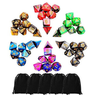AU24.99 • Buy 42pcs Polyhedral Dice For Dungeons And Dragons DND RPG D20 D12 D10 D8 D6 D4 Game