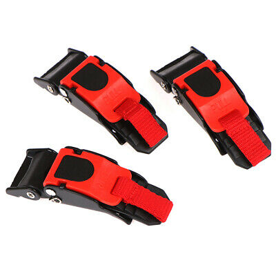 £4.28 • Buy 3Pcs Motorcycle Bike Helmet Chin Strap Speed Sewing Clip Quick Release Buckle`MG