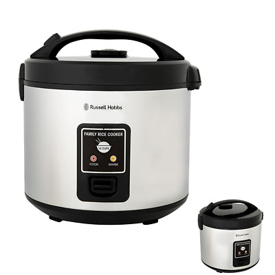 AU52.95 • Buy 10 Cup Family Rice Cooker Silver Steam Rice/Veggie Simultaneously Cook Keep Warm