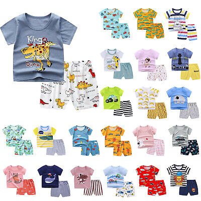 £4.99 • Buy Toddler Kids Baby Boys Tops T-shirt Shorts Pants Tracksuit Outfits Clothes Set