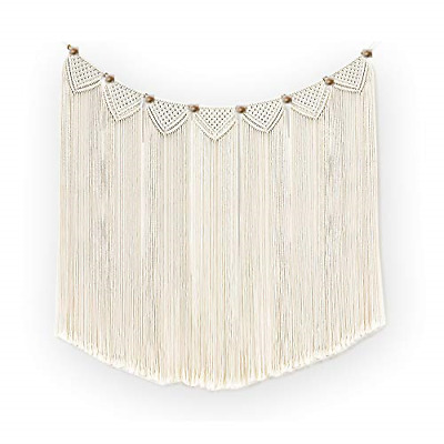 $26.58 • Buy Macrame Wall Hanging Curtain Bohemian Wall Decor Woven Home Decoration For Room