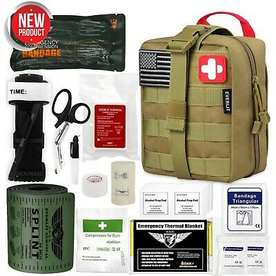 $117.89 • Buy Emergency Trauma Medical First Aid Kit SOS For Car Trip Camping Military Combat