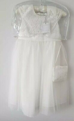 £39.80 • Buy Girl's Bridesmaid Occasion Wear Lace Bodice & Bag Dress Age 6 Brand NEW