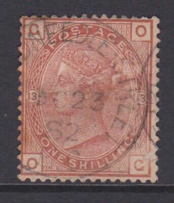 £3.88 • Buy Gb Stamps Queen Victoria 1/- One Shilling Brown Used Check O-g Plate 13