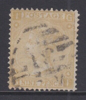 £0.99 • Buy GB STAMPS QUEEN VICTORIA 9d NINE PENCE USED CHECK G-I PLATE 4