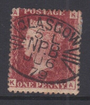£2.20 • Buy GB STAMPS QUEEN VICTORIA 1d PENNY RED PLATE 205 FINE USED GLAGOW NPB
