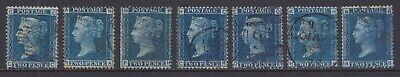 £21.13 • Buy GB STAMPS QUEEN VICTORIA 2d BLUE CHOICE FINE USED PLATES 7 8 9 12 13 14 & 15