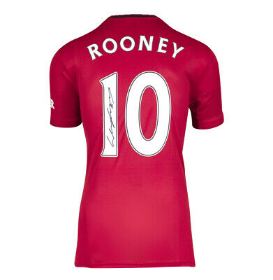 £205.99 • Buy Wayne Rooney Signed Manchester United Shirt - 2019/2020, Number 10 Autograph