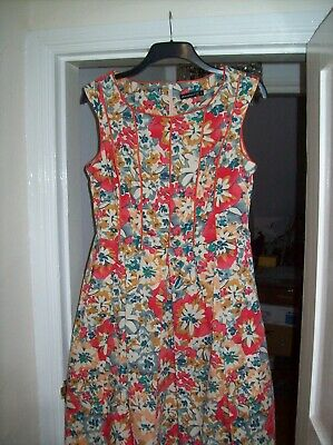 £15 • Buy Atmosphere Floral 50s Style Dress With Full Skirt & Net Petticoat Size 16