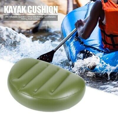 £7.72 • Buy Inflatable Seat Pillow For Kayak Rowing Fishing Boat Air Cushion Mat Durable 1x
