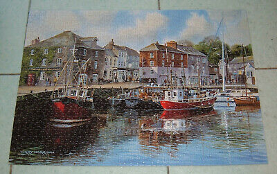 £9.95 • Buy Gibsons Padstow Harbour Terry Harrison 1000 Jigsaw Puzzle Fishing Port Cornwall
