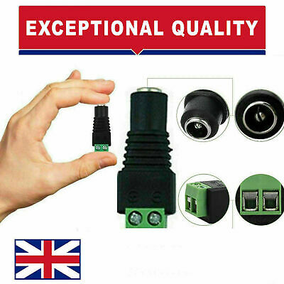 £0.99 • Buy 1x Female 2.1 X 5.5mm DC Power Jack Plug Adapter Connector For CCTV Uk Spec
