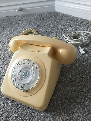 £0.99 • Buy Vintage GPO 746 Rotary Dial Cream Telephone Full Working Order