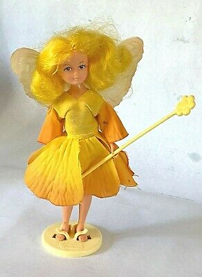 £7.50 • Buy Vintage Hornby Yellow Flower Fairies Doll + Stand + Wand