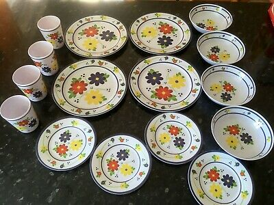 £22.99 • Buy WHITTARD OF CHELSEA 16 Piece Melamine Floral Picnic Set - Summer Dining Camping