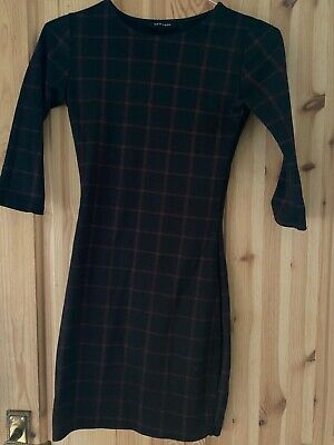 £10 • Buy Newlook Black Check Midi Bodycon Dress Size 6 Used- Great Condition