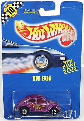 $ CDN25.44 • Buy Hot Wheels VW Bug New Paint Style #0453 Never Removed From Pack 1990 Purple 1:64