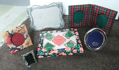£5 • Buy JOBLOT OF RARE AND HAND MADE PHOTO FRAMES - FABRIC, PAST TIMES, TARTAN, NEW,etc