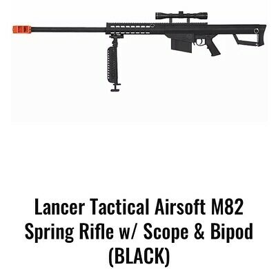$165 • Buy M82 Lancer Tactical .50cal | W/ Upgraded Scope & Bipod