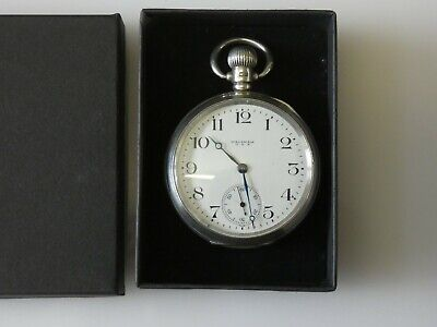 £13.50 • Buy Beautiful Antique Hallmarked Silver WALTHAM Open Face Pocket Watch Dated 1920