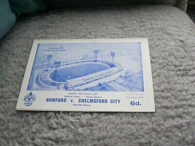 £1 • Buy ROMFORD V CHELMSFORD CITY 25/2/67, SOUTHERN LEAGUE - PREMIER DIVISION