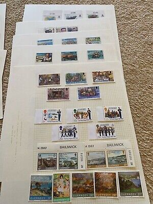 £4 • Buy Guernsey Stamps On Approx. 20 Album Pages. Face Value Of Mint Stamps Over £25