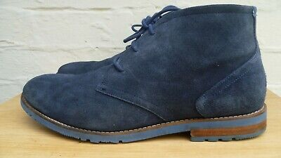 £12.95 • Buy Rockport M79714 Mid Blue Lace-up Suede Chukka Boot Size 11.5 Uk / 46.5 Eu