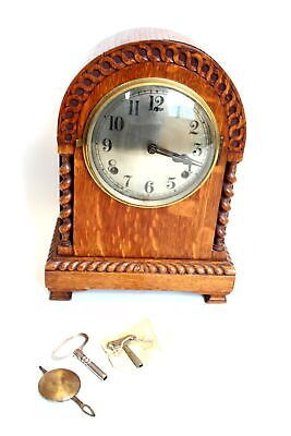 £10 • Buy Large Vintage Wooden W.L GILBERT Wind Up CLOCK W/ Key FOR PARTS/REPAIRS  - N05