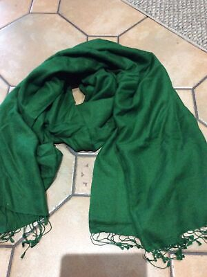 £18 • Buy Cashmere Silk Plain Knitted Scarf Wrap Blanket Throw Material Soft Dark Green