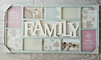 £19.99 • Buy Large Family 10 Multi Picture Aperture Photo Wall Frame  Soft Grey/Off White