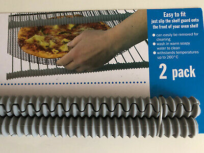 £2.99 • Buy 2xHeat Insulated Silicon Oven & Cooker Shelf Guard Arm Hand Protector Easy Fit