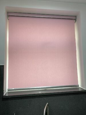 £125 • Buy Louvolite Motorised Blinds Roller Baby Pink Only 8 Months Old & Remote Control