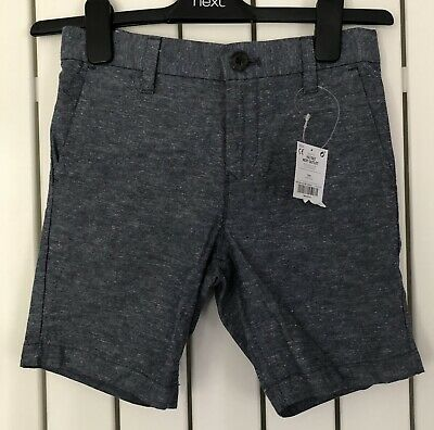 £1.99 • Buy NEXT BOY'S CHINO SHORTS 7 Years / 122cms BLUE WITH ADJUSTABLE WAIST NEW