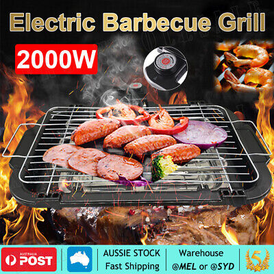 AU27.60 • Buy Portable Electric BBQ Grill Teppanyaki Smokeless Barbeque Pan Hot Plate Table OZ