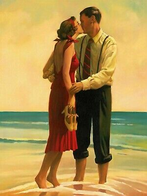 £19.99 • Buy ROMANTIC COUPLE ON BEACH - LARGE WALL ART CANVAS PICTURE 20x30