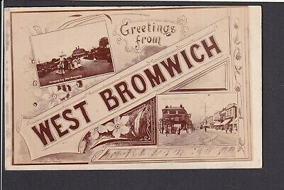 £5 • Buy Staffordshire - West Bromwich Multiview RP - Postcard