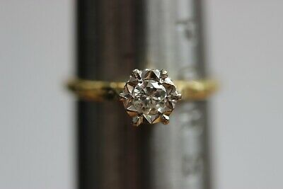£31 • Buy 18ct Gold Diamond Solitaire Ring In An Illusion Setting