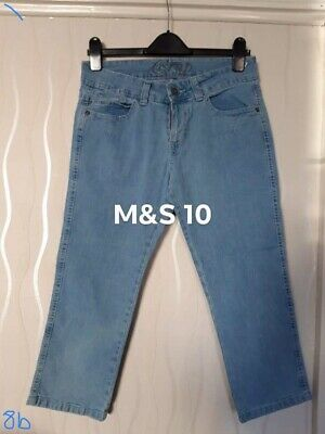 £1.99 • Buy Marks And Spencer Crop Blue Jeans. Size 12