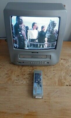 £89.99 • Buy Goodmans TVC146TWS 14  CRT TV & VHS VCR Video Combi Retro Gaming TV,With Remote