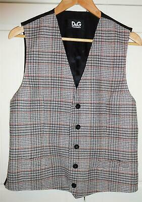 £29.99 • Buy DOLCE & GABBANA D&G Plaid Check Waistcoat Vest Wool Blend Perfect Condition