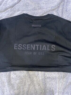 £59.99 • Buy Fear Of God Essentials T-Shirt Stretch Limo (Black) SS21 Size- Small