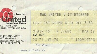 £3.99 • Buy Manchester United Rare  Home Ticket Stub   V St Etienne  And Fc Porto 1977 Ecwc