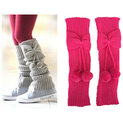 £3.32 • Buy Kids Boot Knit Cuffs For Children Knee High Solid 1Pair Comfy Knit Leg Warmers
