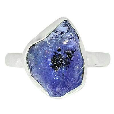 £9.20 • Buy Tanzanite Crystal - Tanzania 925 Sterling Silver Ring Jewelry S.9 BR67281